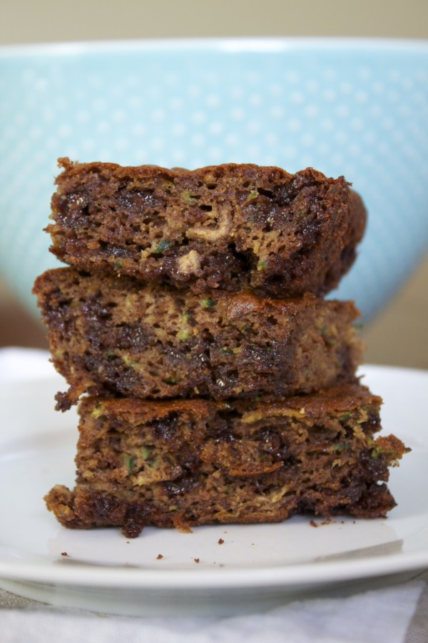 flourless chocolate chip zucchini snack cake