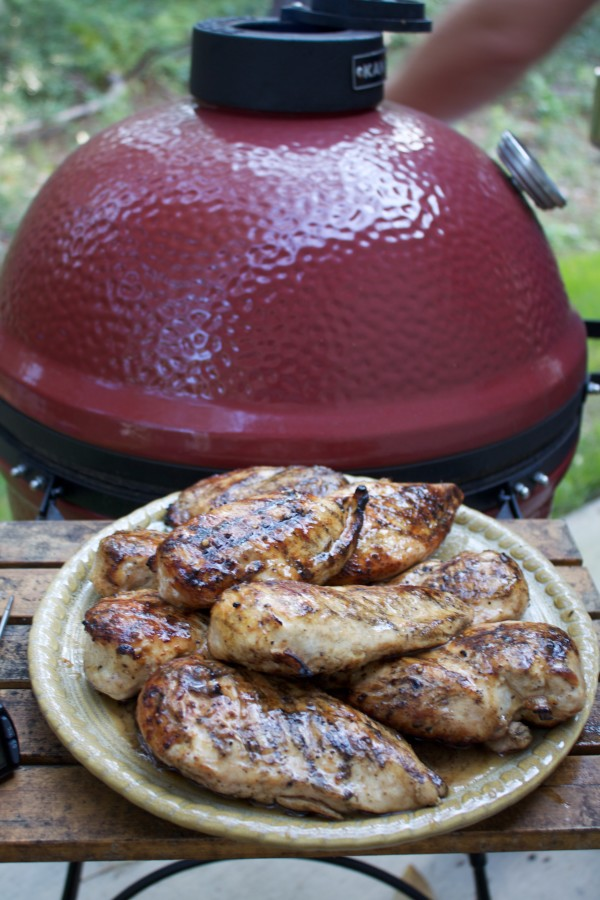perfect grilled chicken on the platter